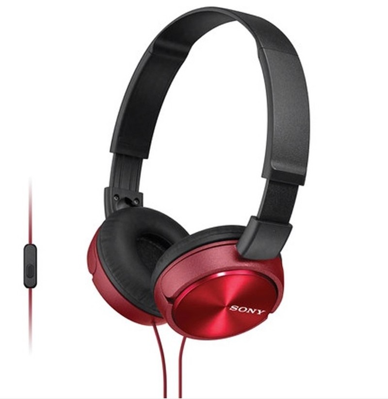 SONY HEADPHONES ZX SERIES STEREO HEADSET RED