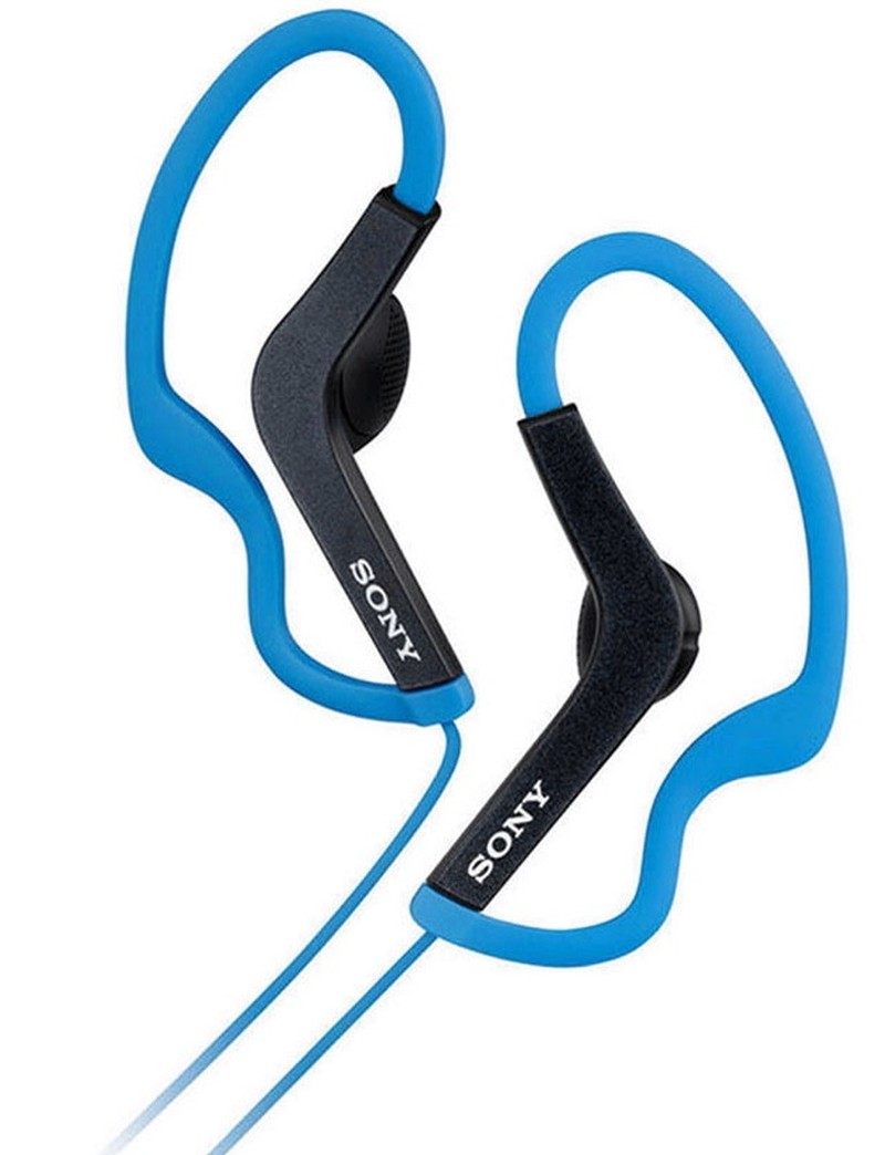 SONY ACTIVE SPORTS EARBUD HEADPHONES - BLUE