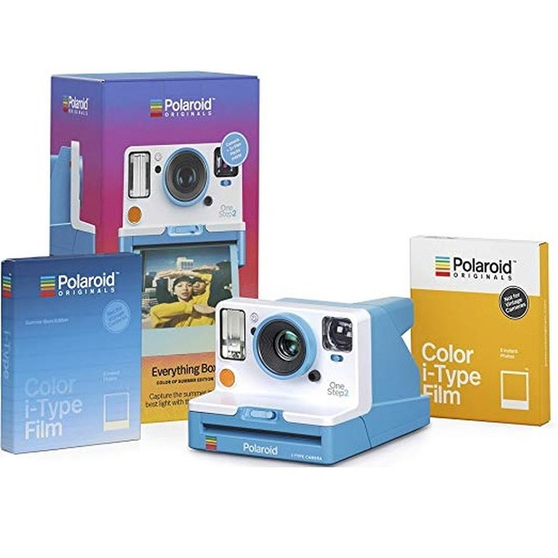 ONESTEP 2 VF SUMMER BLUE CAMERA AND FILM BUNDLE (EVERYTHING BOX)